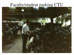 faculty student parking ctu