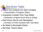 java enum types
