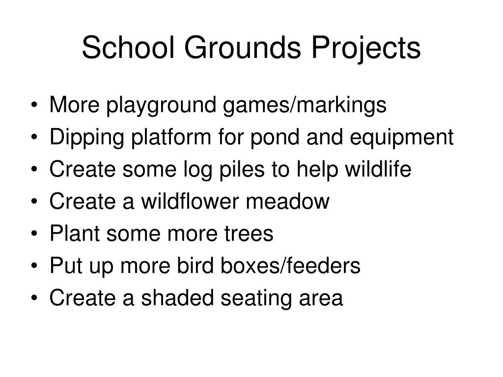 school grounds projects l.