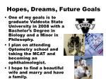 hopes dreams future goals