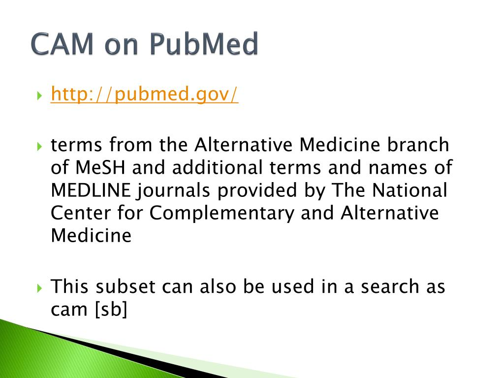 CAM on PubMed