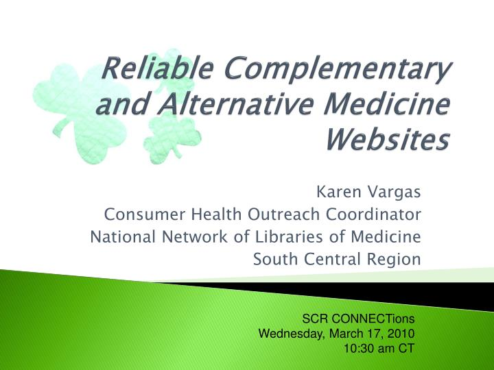 Reliable complementary and alternative medicine websites