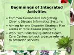 beginnings of integrated activities11