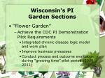 wisconsin s pi garden sections