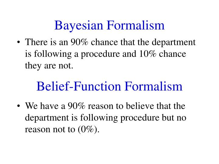 Bayesian Formalism