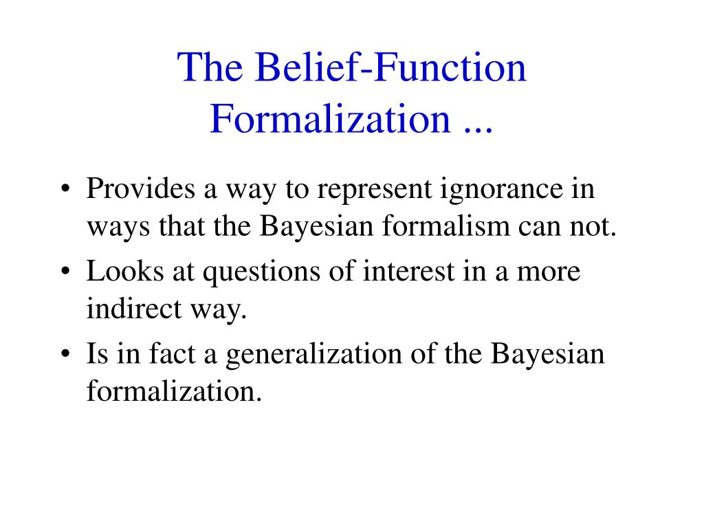 The Belief-Function Formalization ...