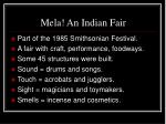 mela an indian fair