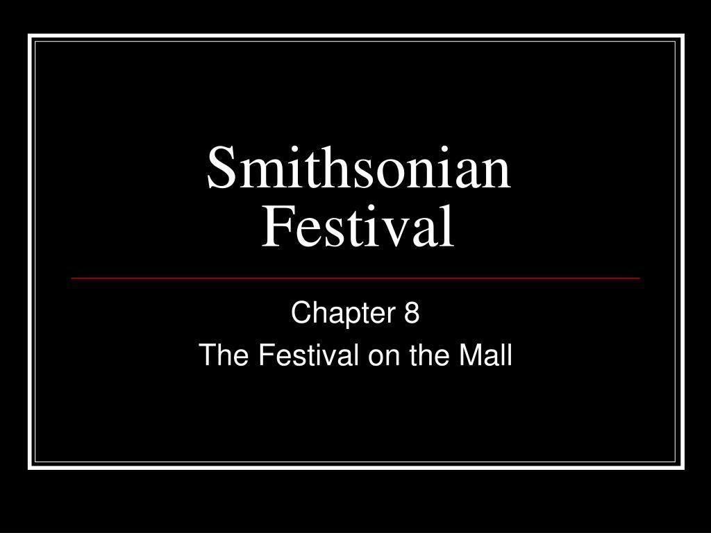 smithsonian festival
