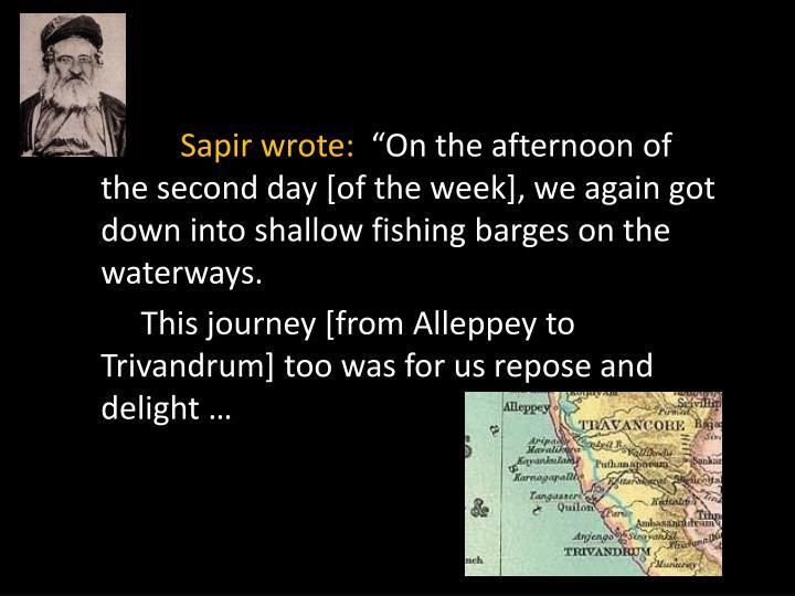 Sapir wrote: