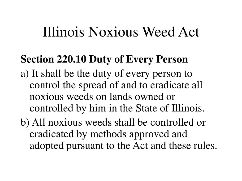 Illinois Noxious Weed Act