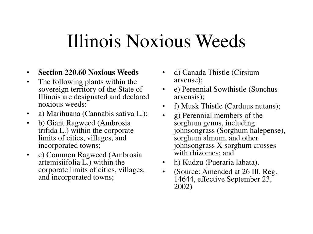 Section 220.60 Noxious Weeds