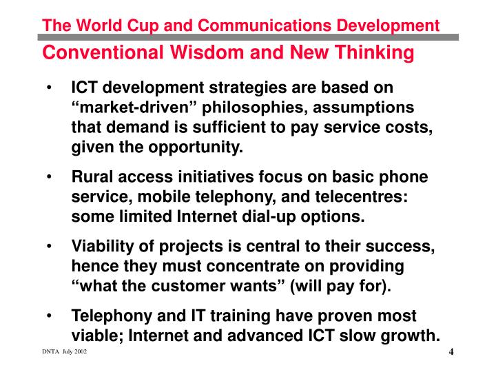 The World Cup and Communications Development