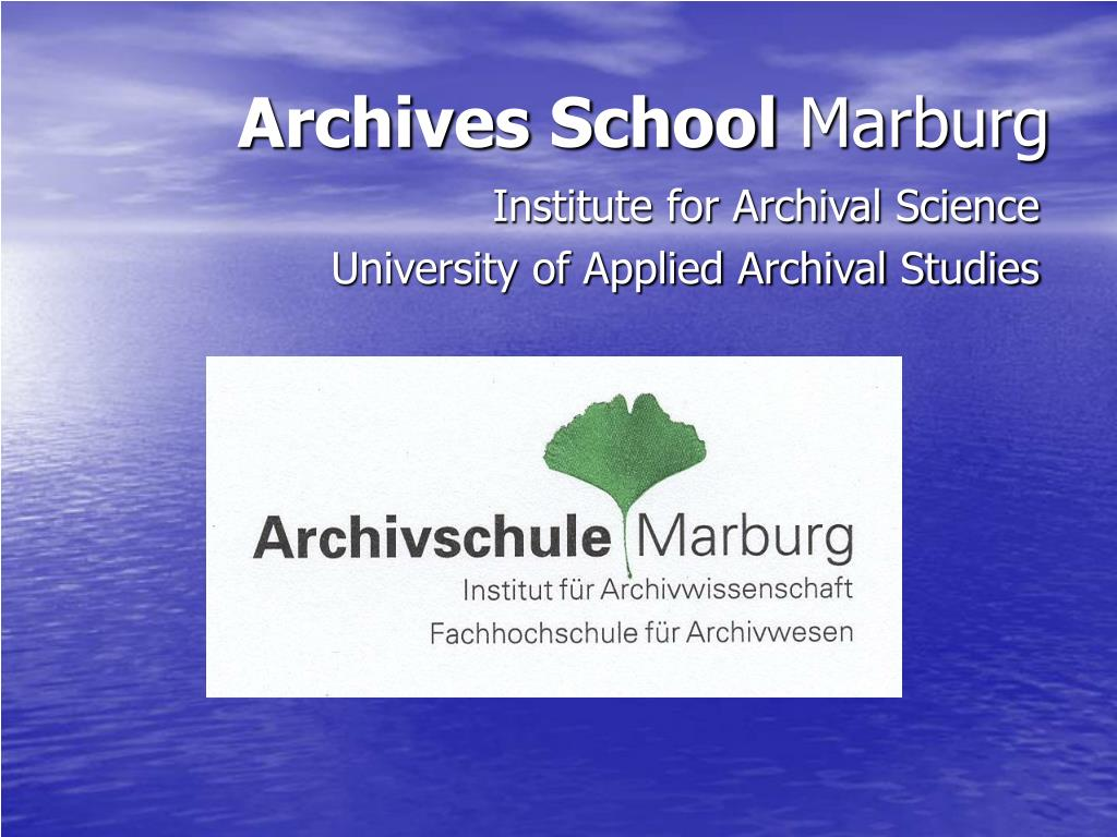 Archives School