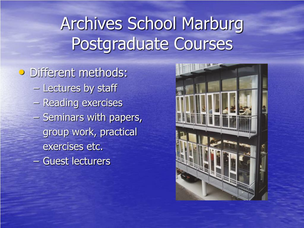 Archives School Marburg P