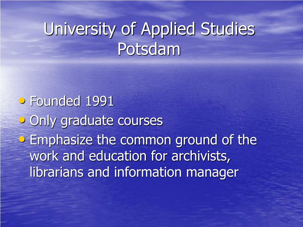 University of Applied Studies Potsdam
