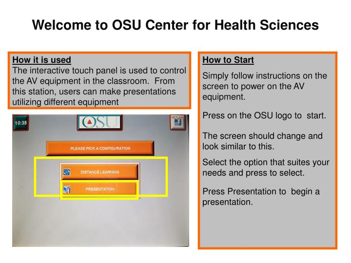 Welcome to OSU Center for Health Sciences