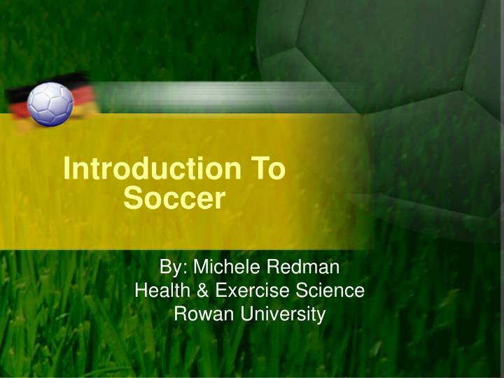 introduction to soccer n.