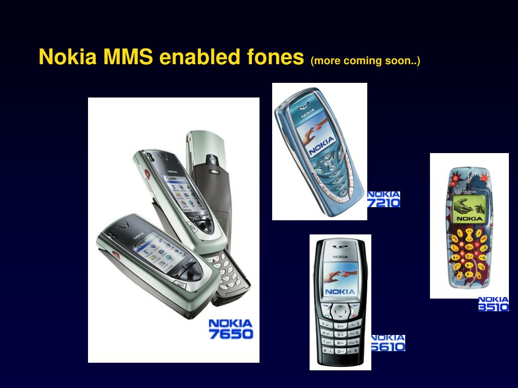 Nokia MMS enabled fones