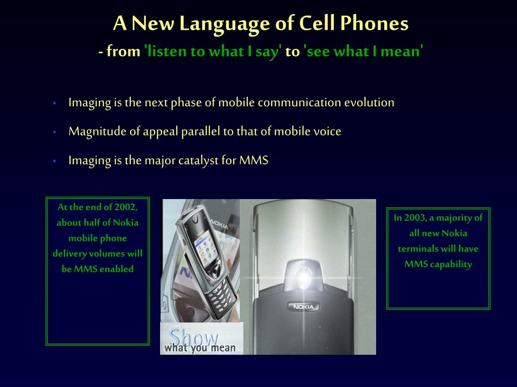 A New Language of Cell Phones