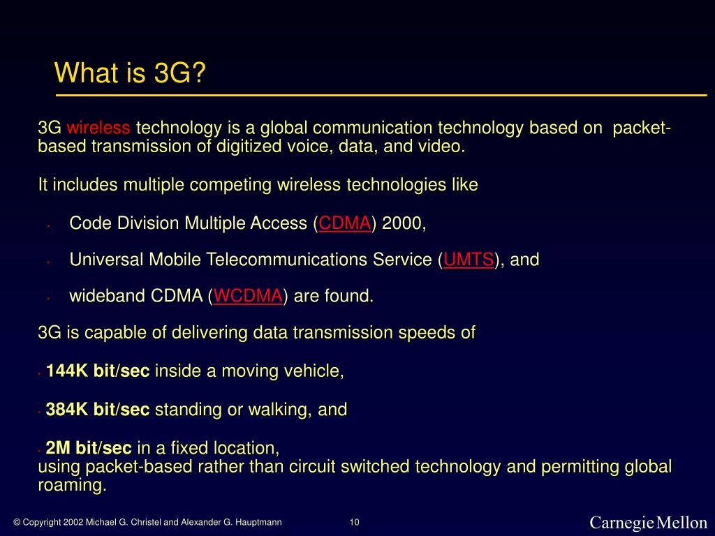 What is 3G?