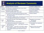 analysis of reviewer comments