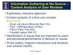 information gathering at the source content analysis of user reviews