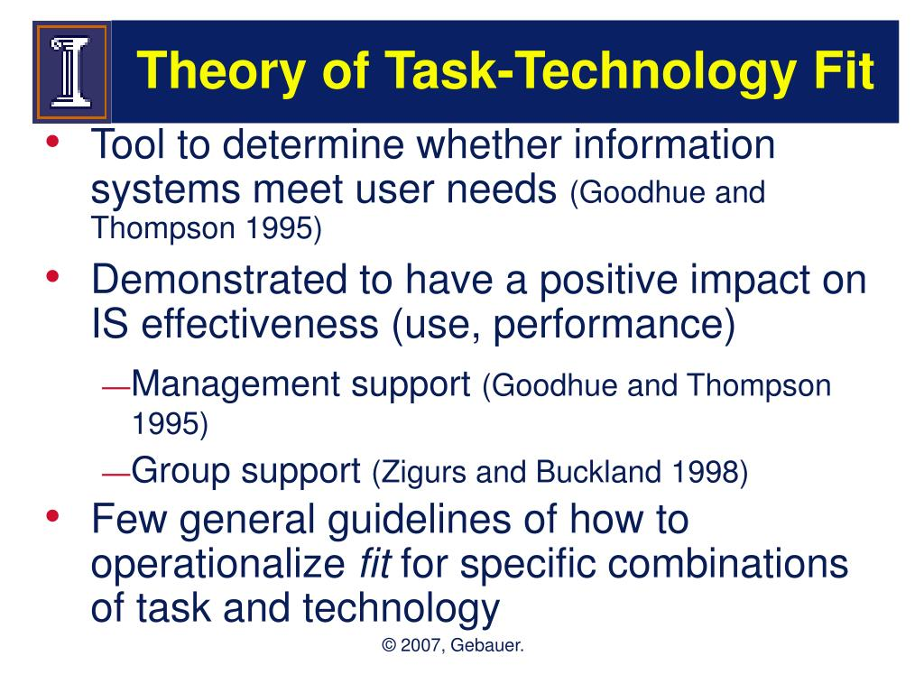 Theory of Task-Technology Fit