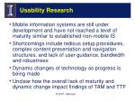 usability research