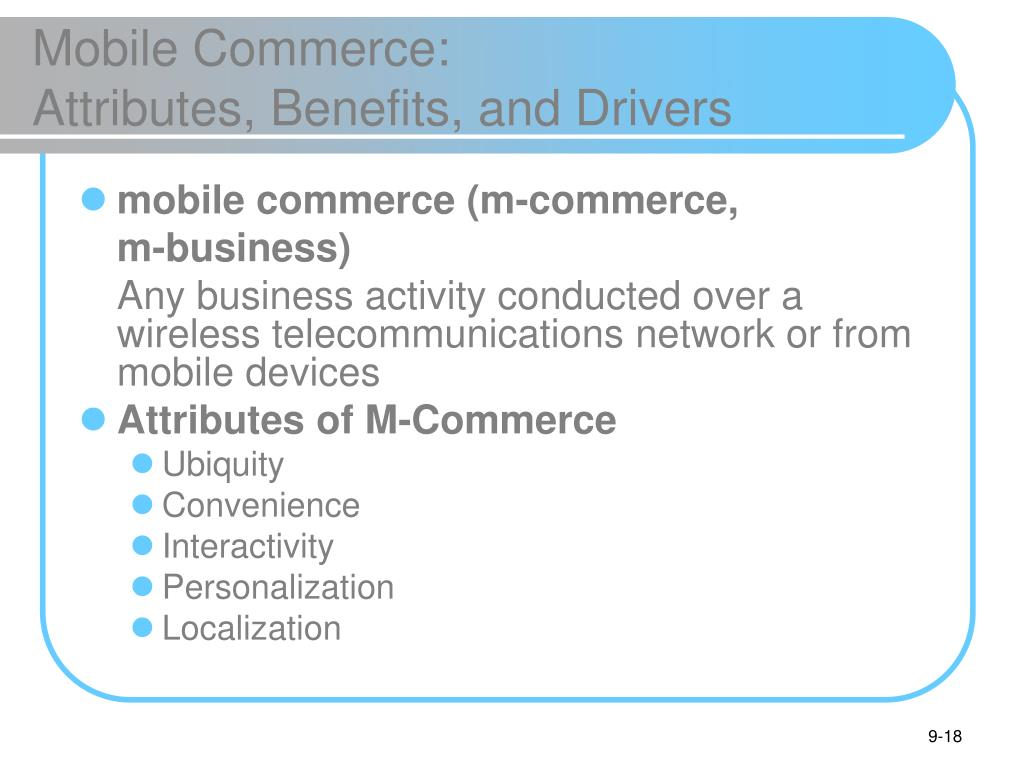Mobile Commerce: