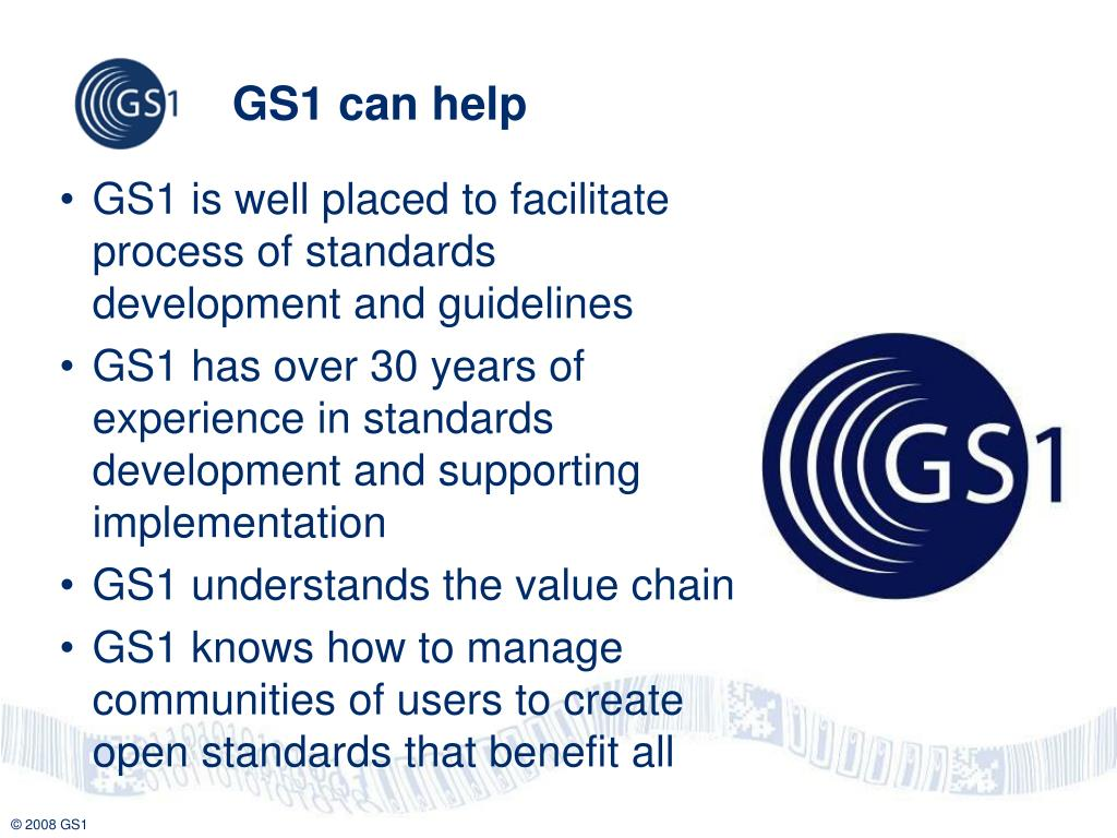 GS1 can help