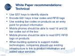white paper recommendations technical