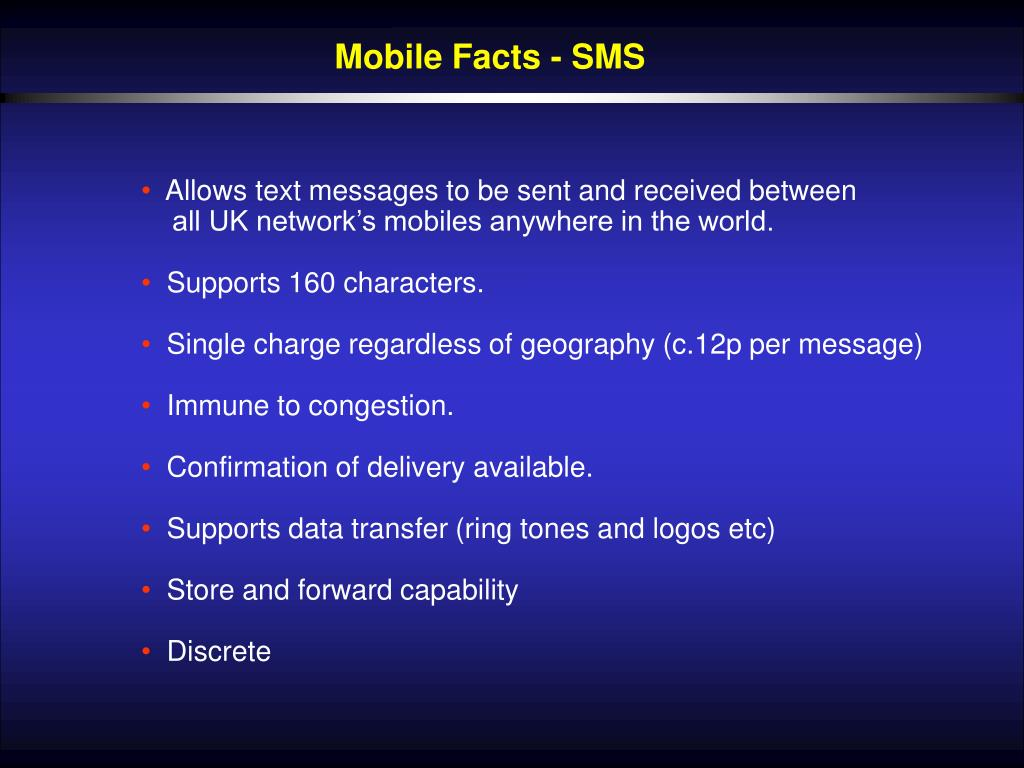 Mobile Facts - SMS
