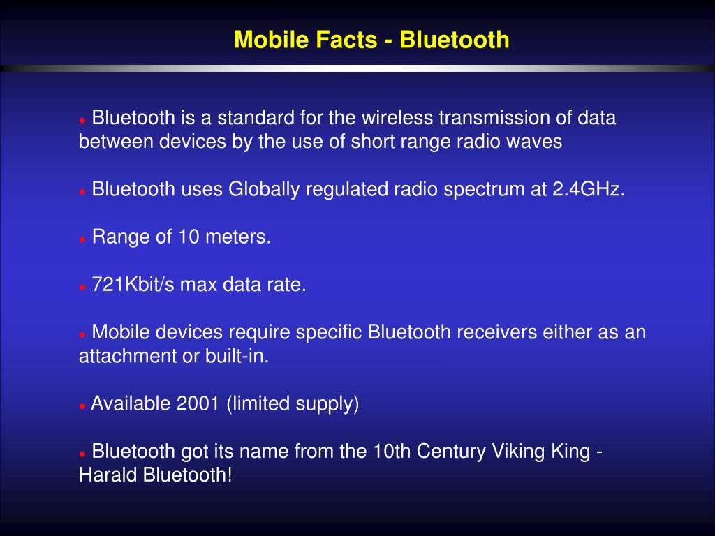 Mobile Facts - Bluetooth