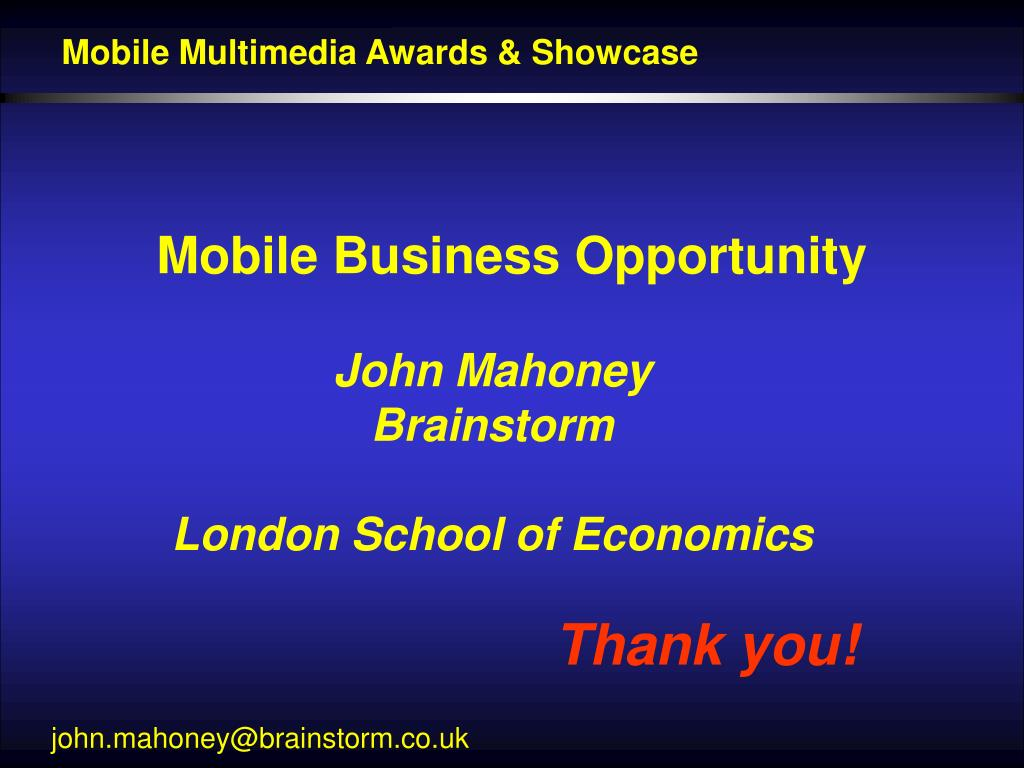 Mobile Multimedia Awards & Showcase