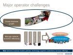 major operator challenges13