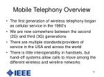mobile telephony overview