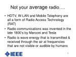 not your average radio