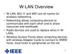 w lan overview