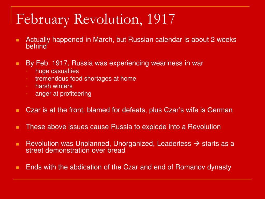 February Revolution, 1917