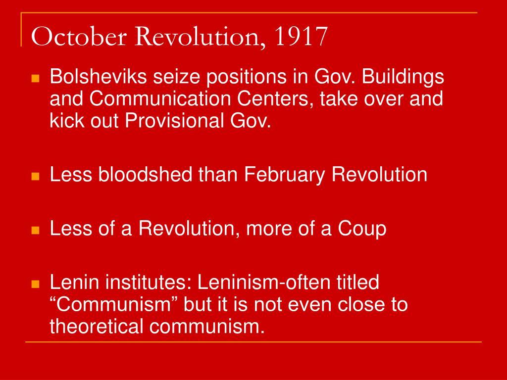 October Revolution, 1917
