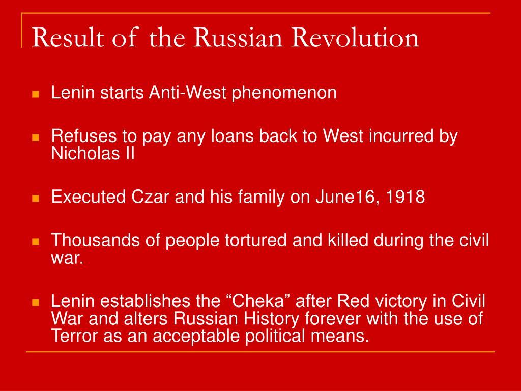 Result of the Russian Revolution