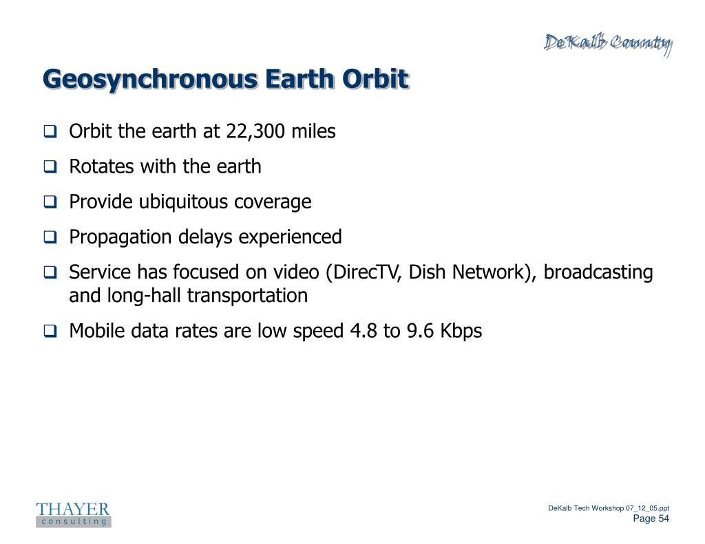 Geosynchronous Earth Orbit