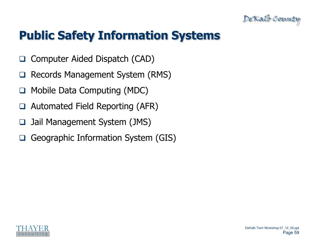 Public Safety Information Systems