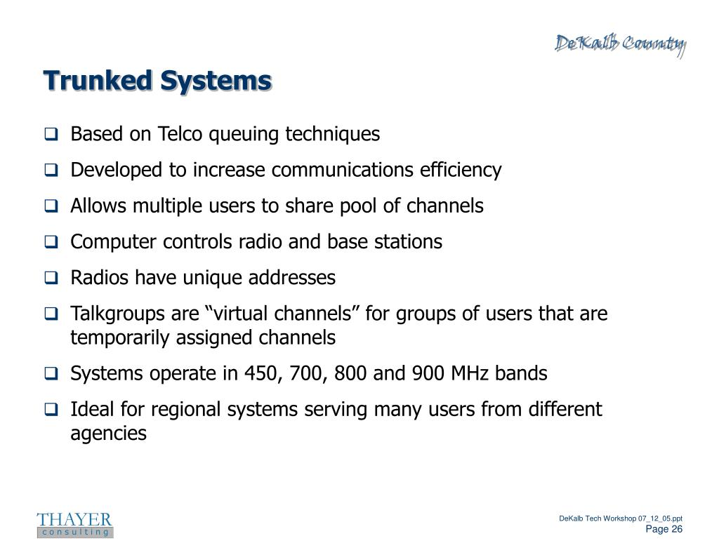 Trunked Systems