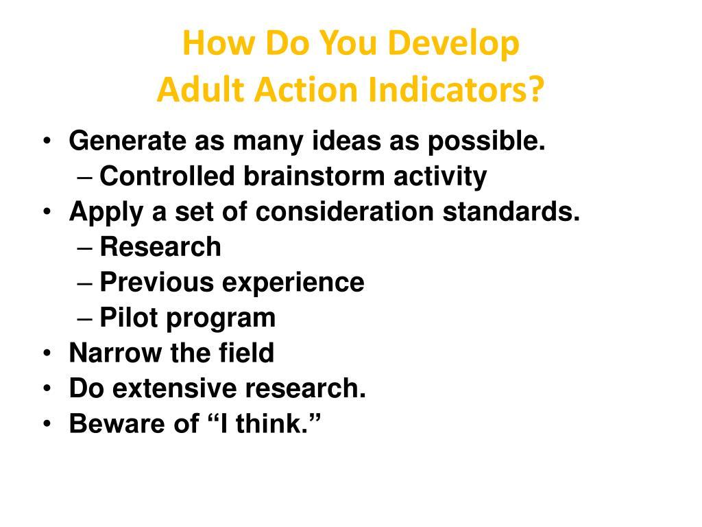 How Do You Develop
