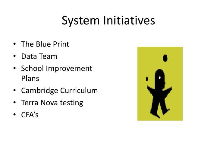 System initiatives