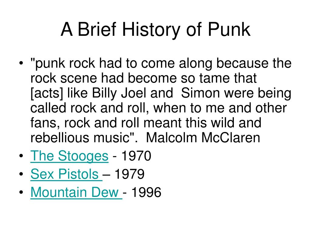 A Brief History of Punk