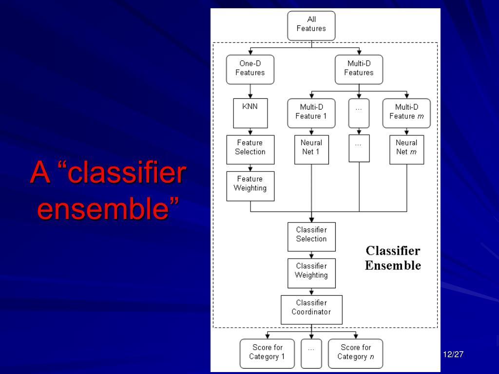 "A ""classifier ensemble"""