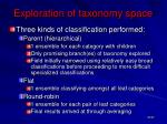 exploration of taxonomy space