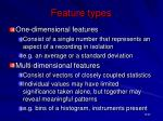 feature types